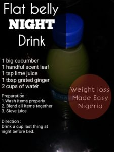 FLAT BELLY NIGHT DRINK - Weight Loss Made Easy Nigeria