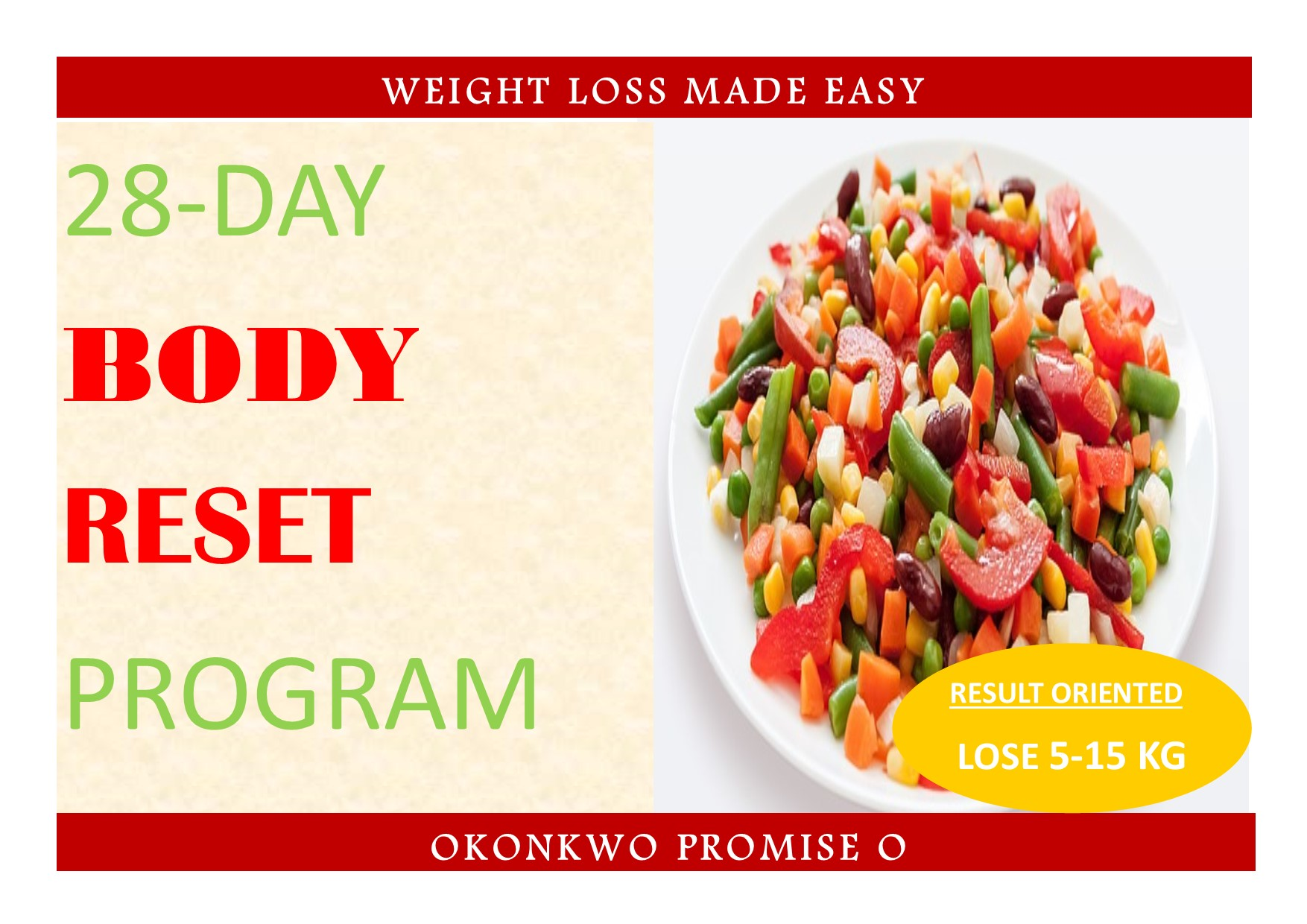 28 day Body reset Plan