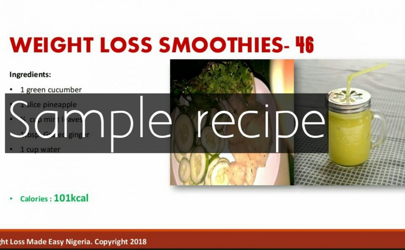 50 Weight loss smoothies recipe book
